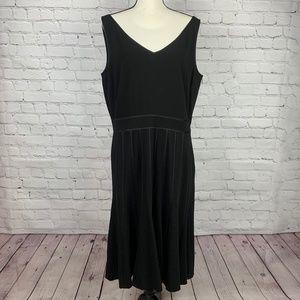 Ann Taylor Sleeveless V-Neck Little Black Dress
